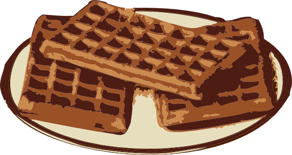 Waffles clipart plate.