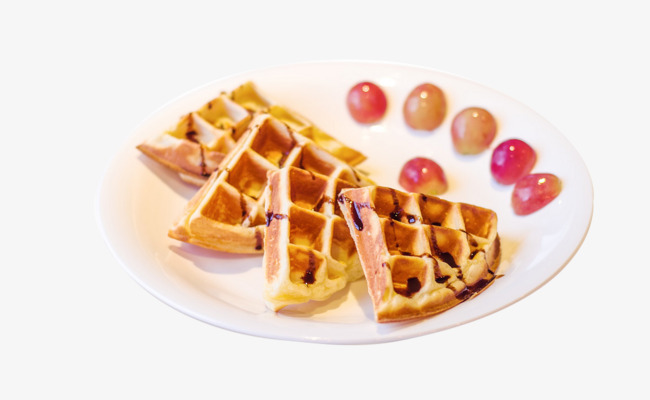 Waffle clipart plate. Of waffles biscuit grape