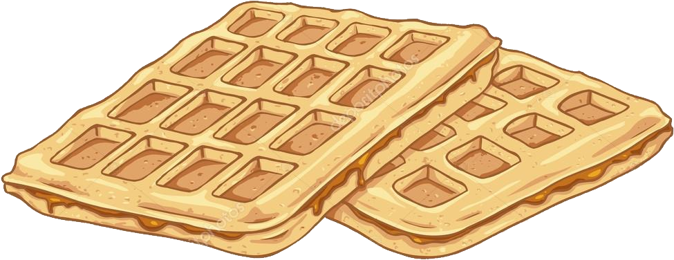 Waffle png images free. Waffles transparent clipart image black and white download