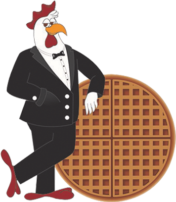 Waffle clipart round waffle. Chicagos home of chicken