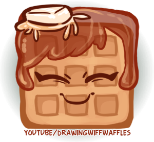 Waffle clipart sketch. Drawing wiff waffles rin