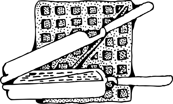 Waffle clipart sketch. Free cliparts download clip