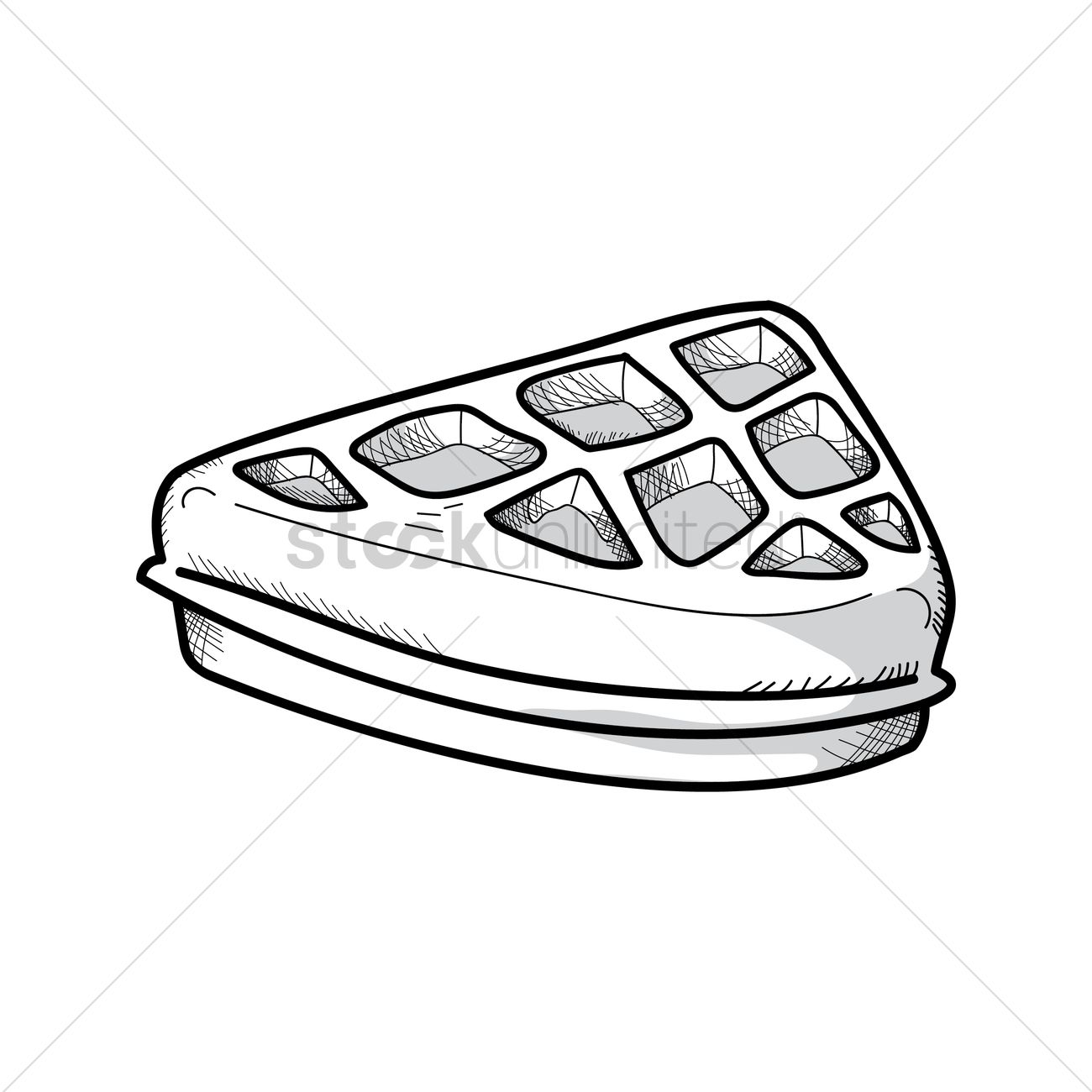 waffle clipart sketch