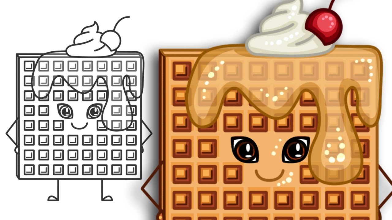 Waffle clipart sketch. Drawing at getdrawings com