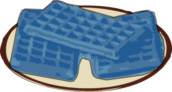 Waffle clipart small. Blue clip art at