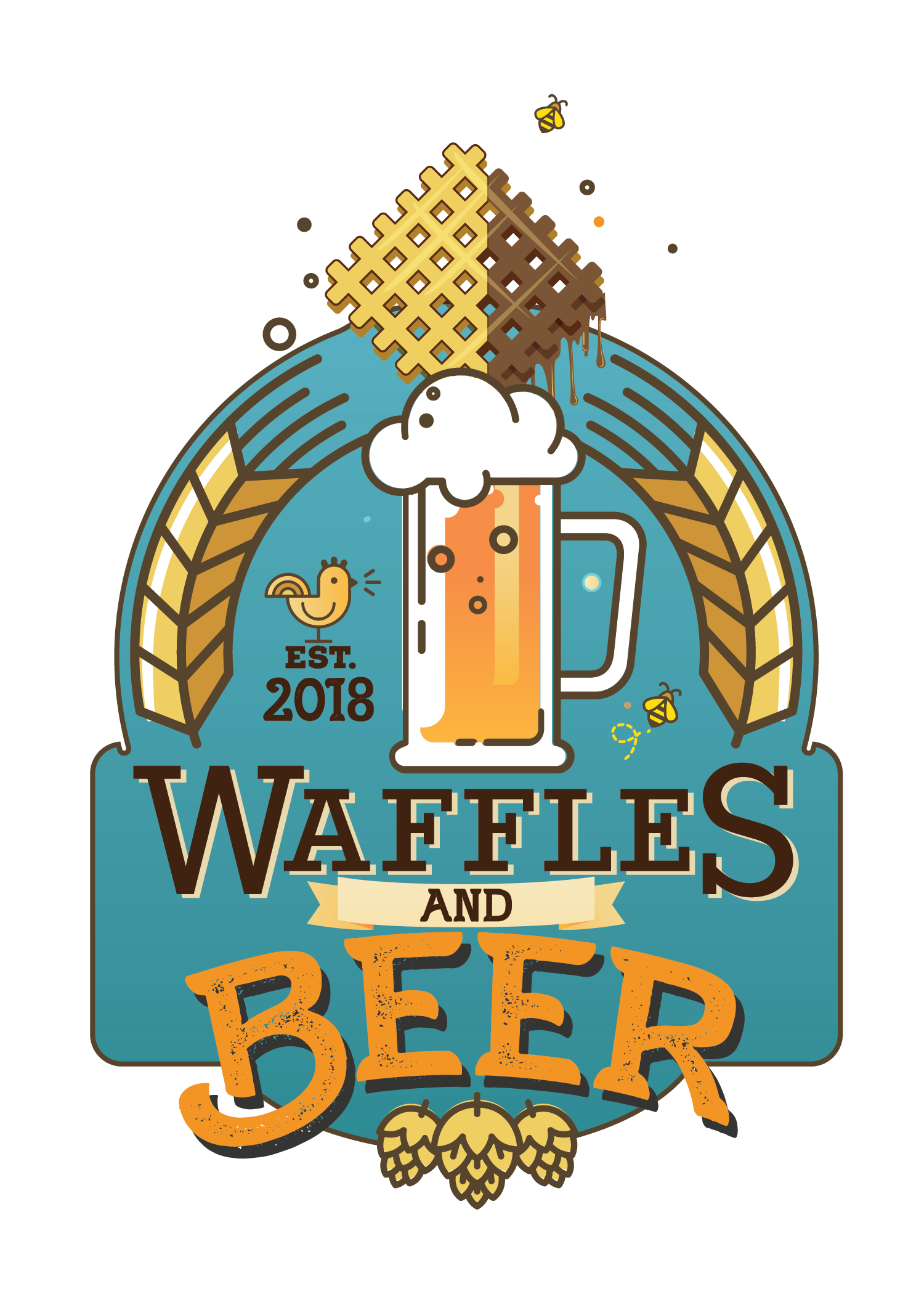 Waffle clipart square. Waffles and beer festival