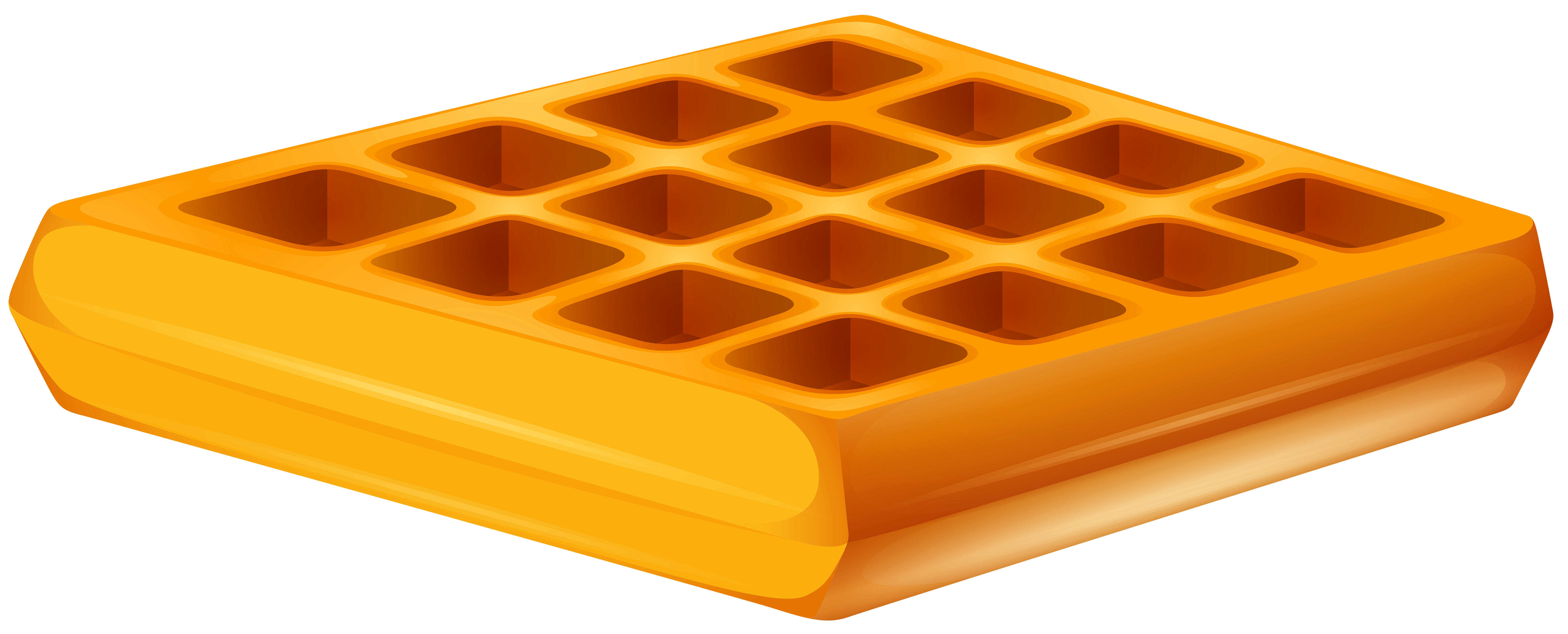 Cartoon waffle png. Transparent clip art image