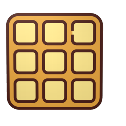 Waffle clipart square waffle. A cross server and