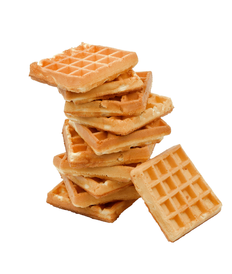 Waffle clipart transparent background. Stack of waffles png