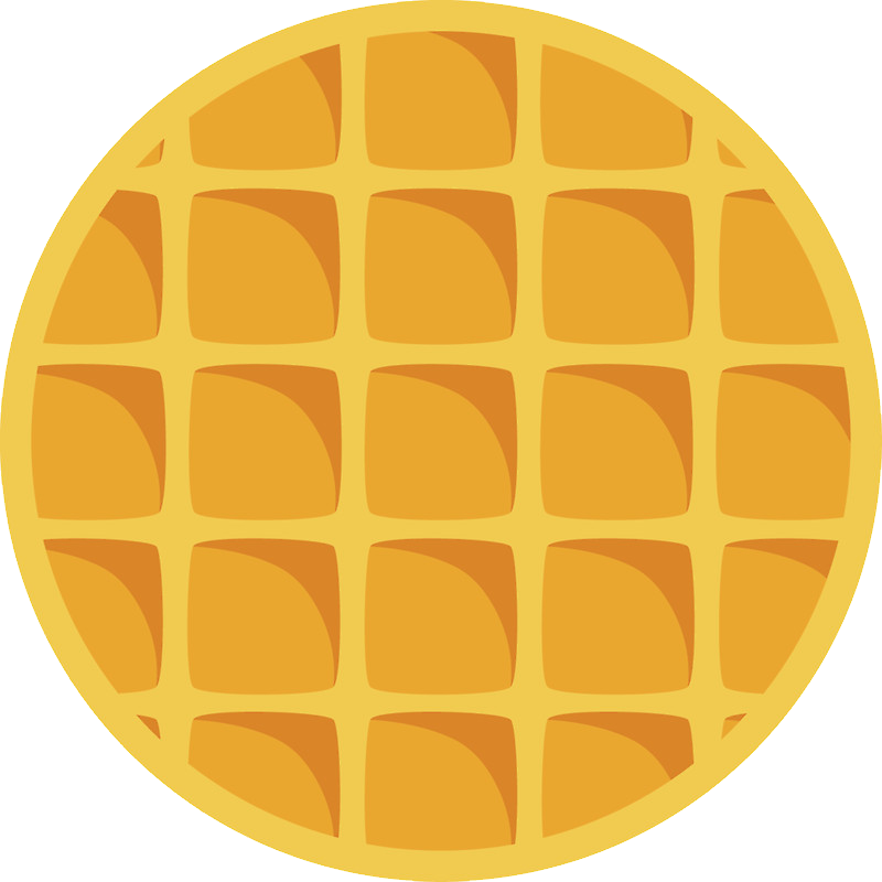 waffle clipart face