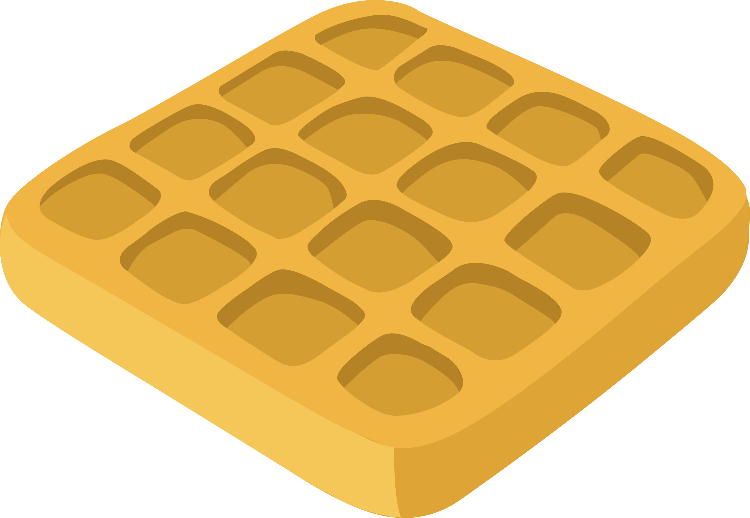 Waffle clipart vector. Food waffles by glitch