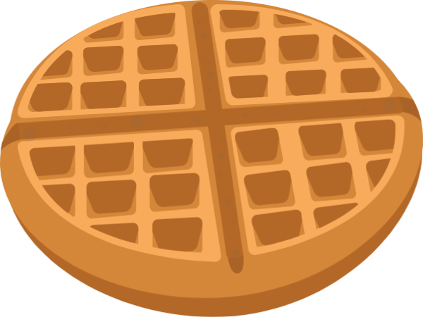 Recipe vector. Free online waffle afternoon