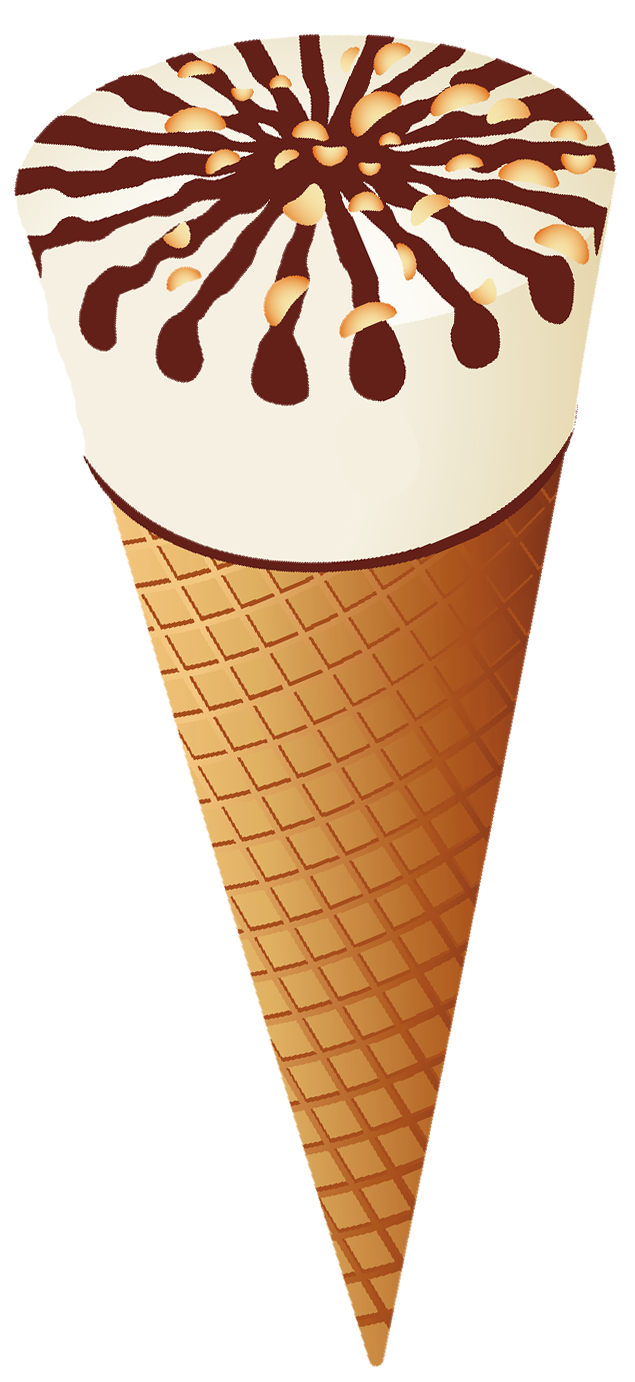 Waffle cone png. Transparent ice cream clipart