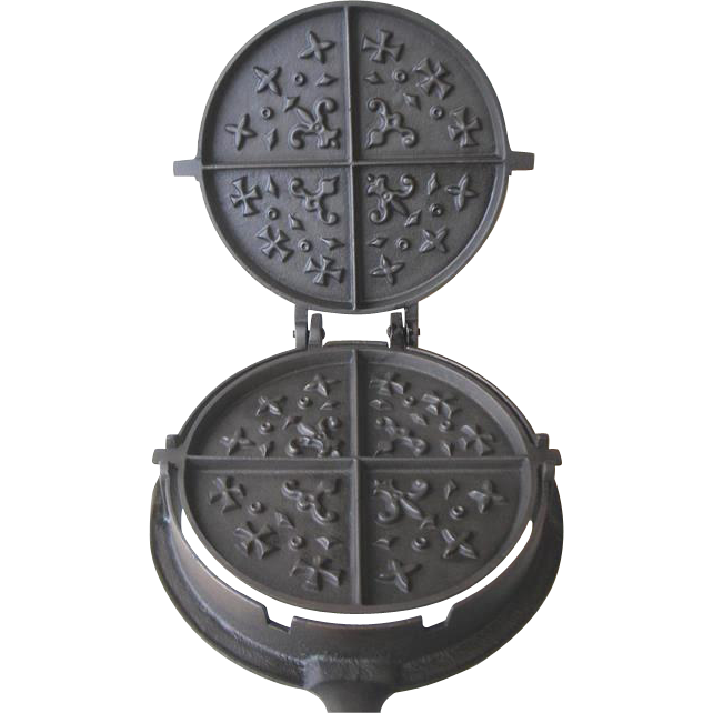 Waffle iron png. Old cast philad a