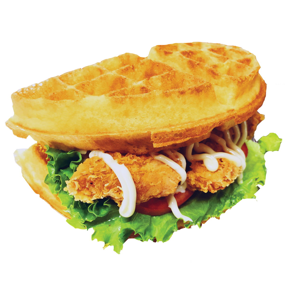 Waffle png chicken. Poutine vancouver sandwich