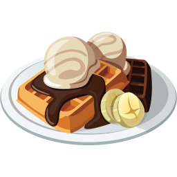 Waffle icon download dessert. Waffles transparent free clipart picture black and white download