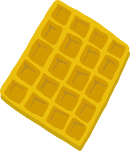 Waffle clipart small. Cartoon