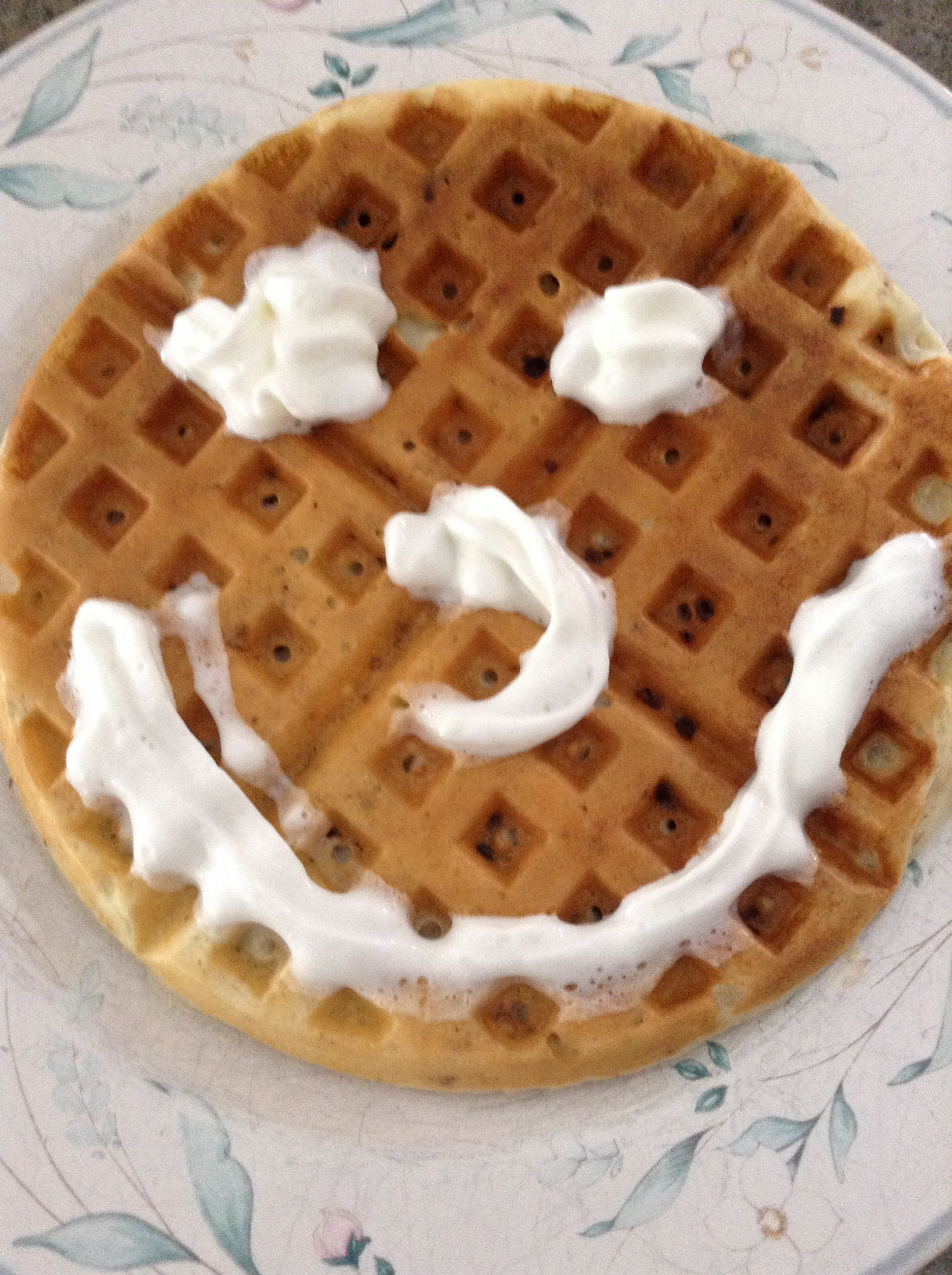 Waffles clipart face. My waffle hee smiley
