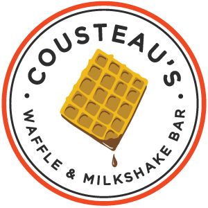 Waffles clipart waffle bar. Menu cousteau s and