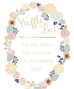 Waffles clipart waffle bar. Easy setup with fresh