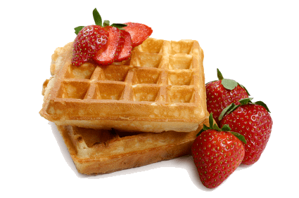 Waffles transparent fruit. With strawberries png photos