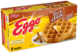 Kelloggs eggo thick fluffy. Waffles transparent brown sugar vector library library