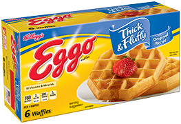 Waffles transparent brown sugar. Kelloggs eggo thick fluffy