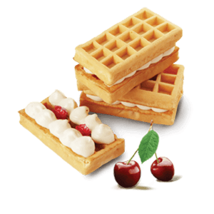 Waffles transparent traditional. Cream soft well monte