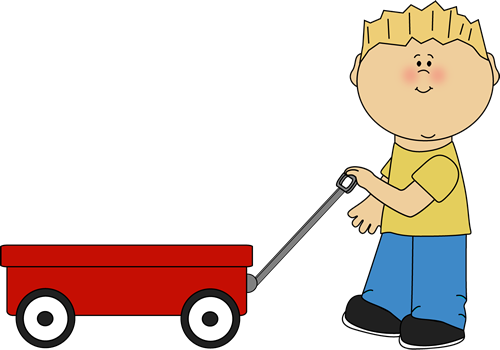 Pulling clip art for. Wagon clipart baby banner free download