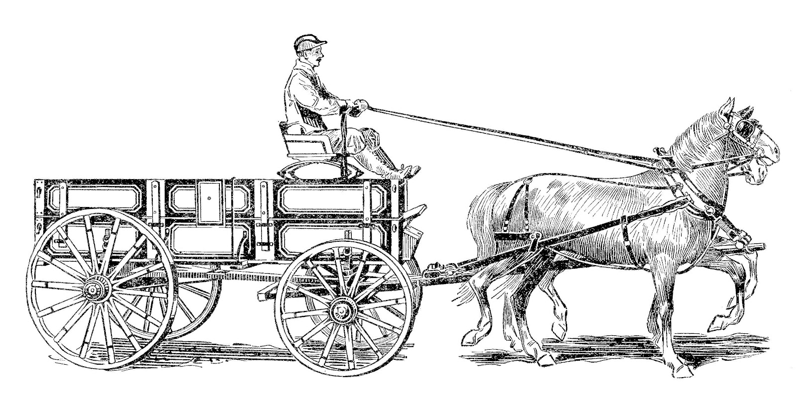 Wagon clipart horse wagon. And