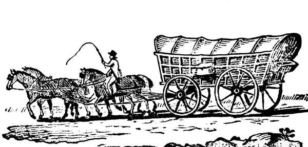 Wagon clipart horse wagon. And covered clipartpig