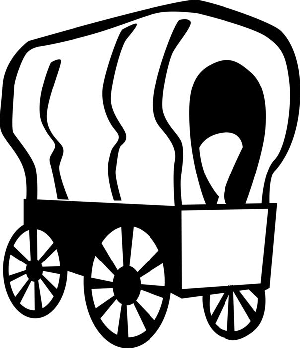 Wagon vector. Old west chuck image