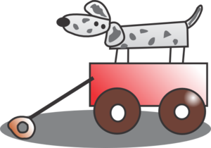 Wagon vector animated. Toy clip art at