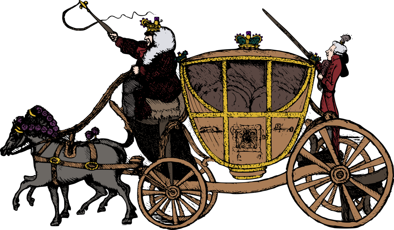 Wagon vector horse cart. Drawn vehicle carriage and