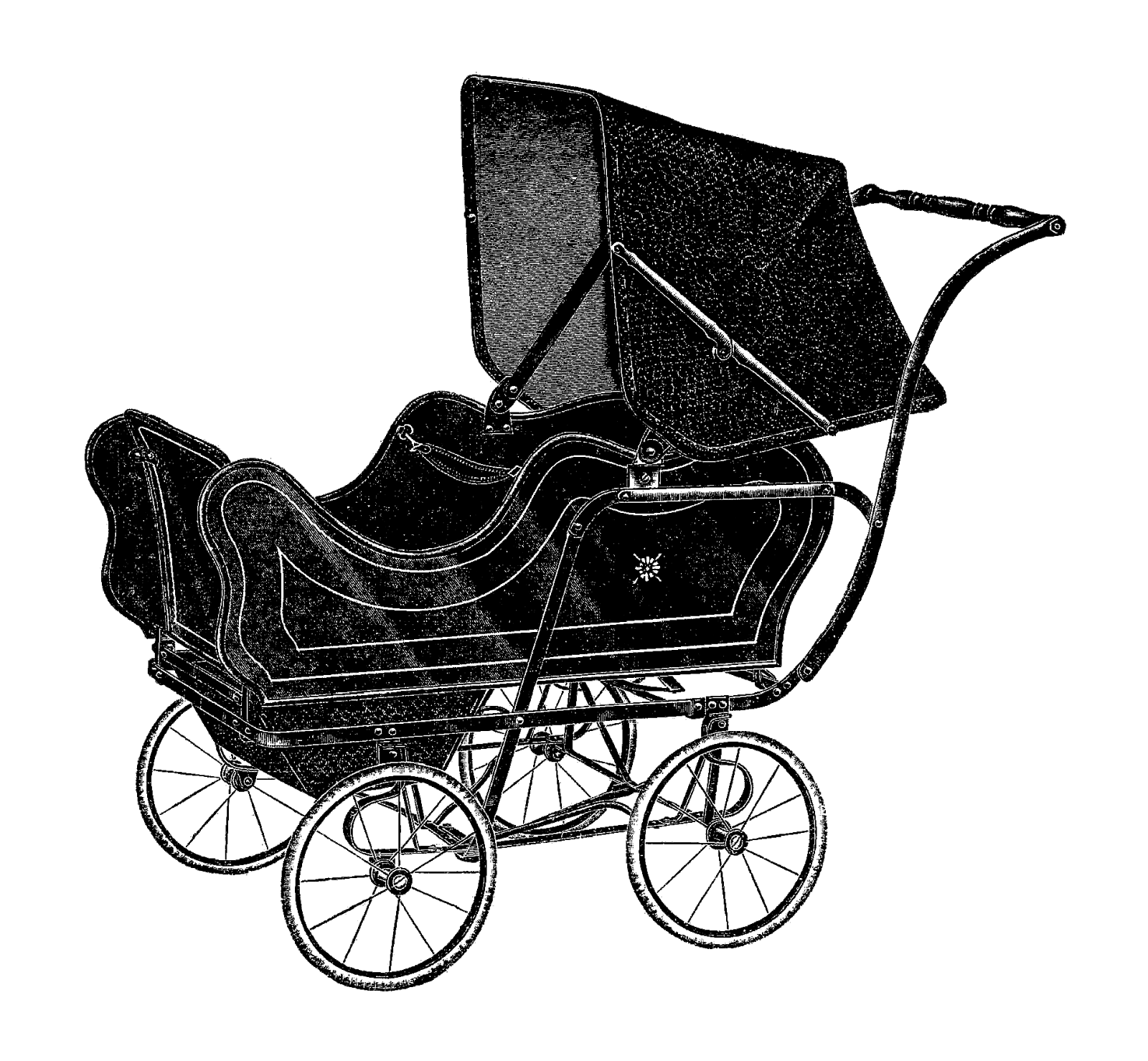 Wagon vector old fashioned. Free baby carriages download