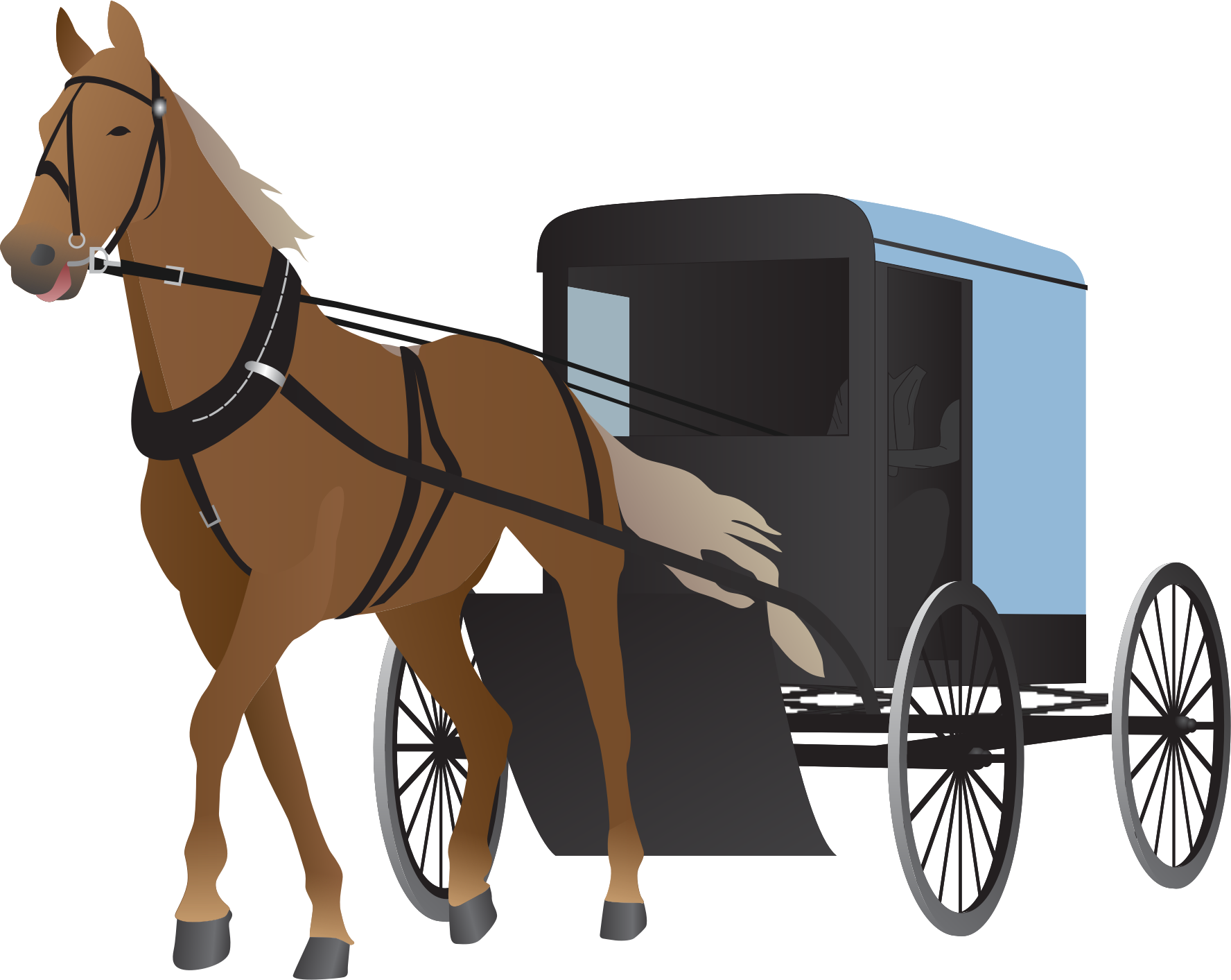 Wagon vector wedding indian horse. Collection of amish