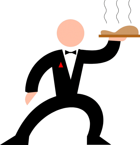 Waiter clipart hotelier. Download png photo toppng