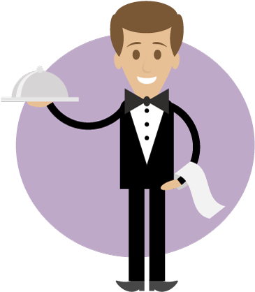 Waiter clipart. Download hd png library