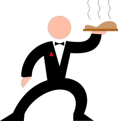 Waiter clipart silhouette. Free picture of download