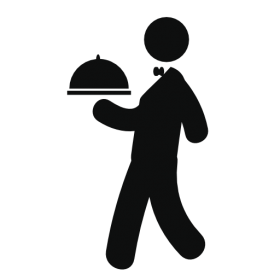 Waiter clipart silhouette. Tags purepng free transparent