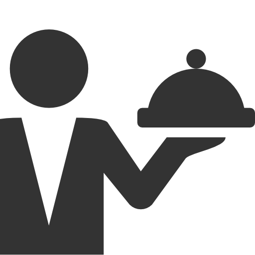 Waiter clipart silhouette. Png images free download