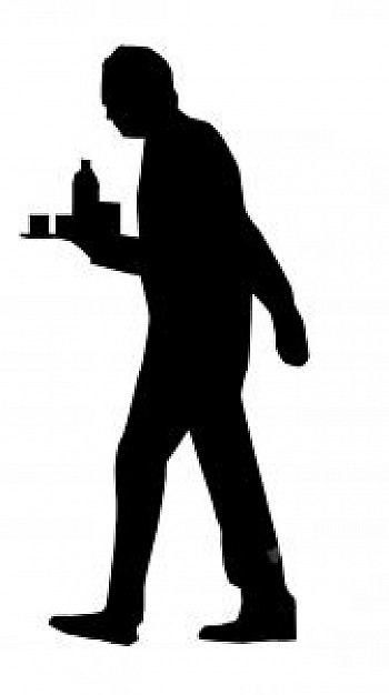 Waiter clipart silhouette. At getdrawings com free