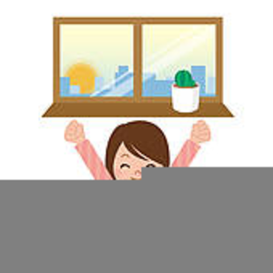 Waking clipart. Of a person up