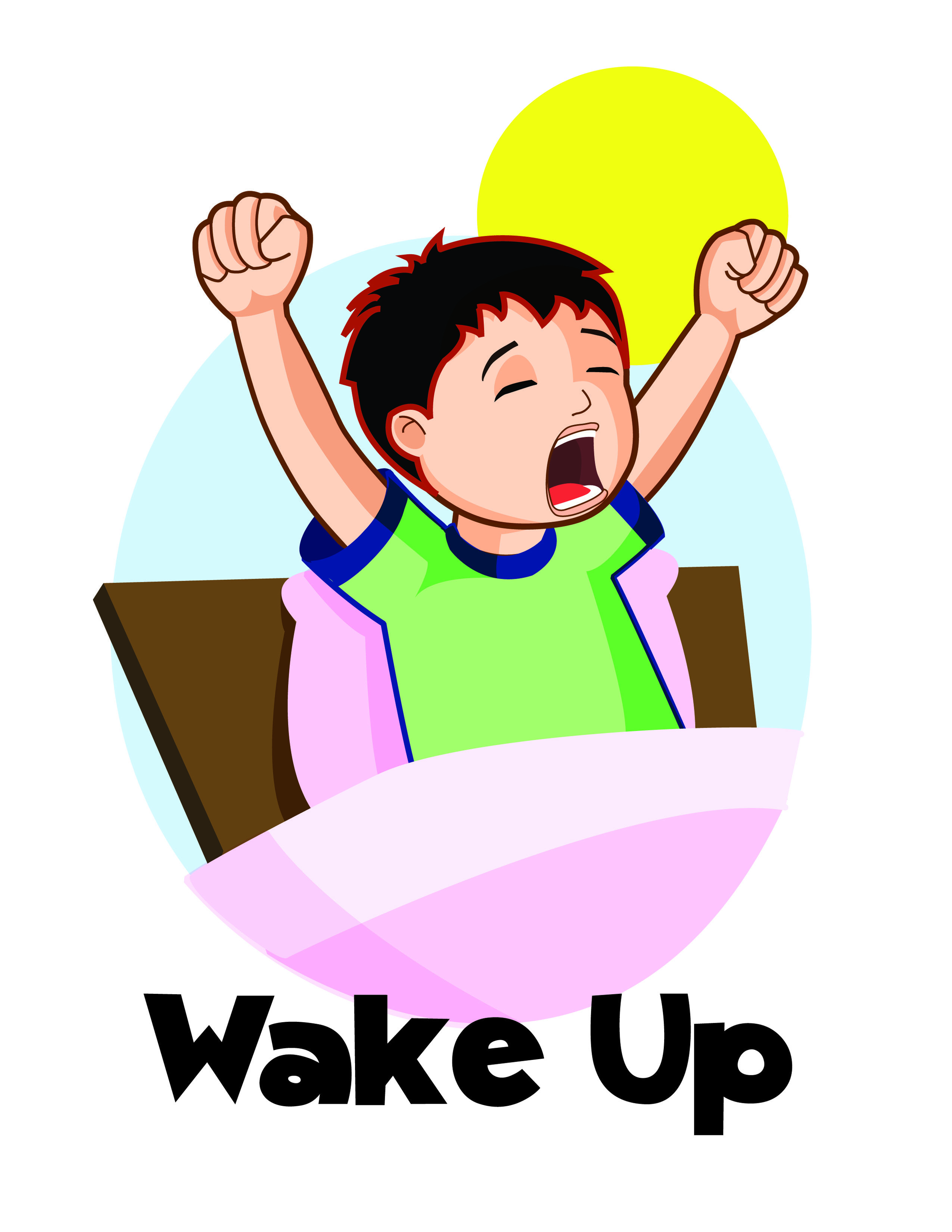 Waking clipart. Wake up clip