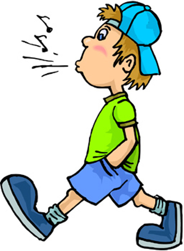 Walk clipart. You can whistle but