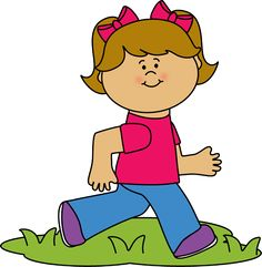Walk clipart. Boy playing with a