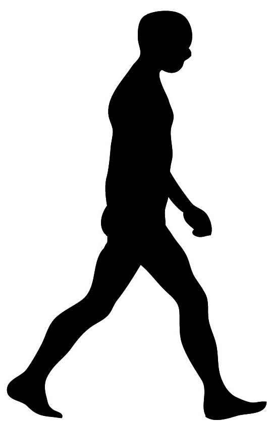 People walking away at. Walk clipart silhouette clip free download