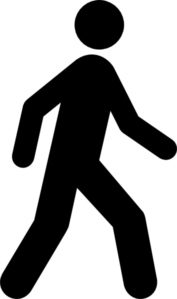 vector black and. Walk clipart graphic transparent