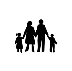Walk vector family bonding. Silhouette clipart at getdrawings