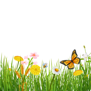 Walk vector spring. Background image library